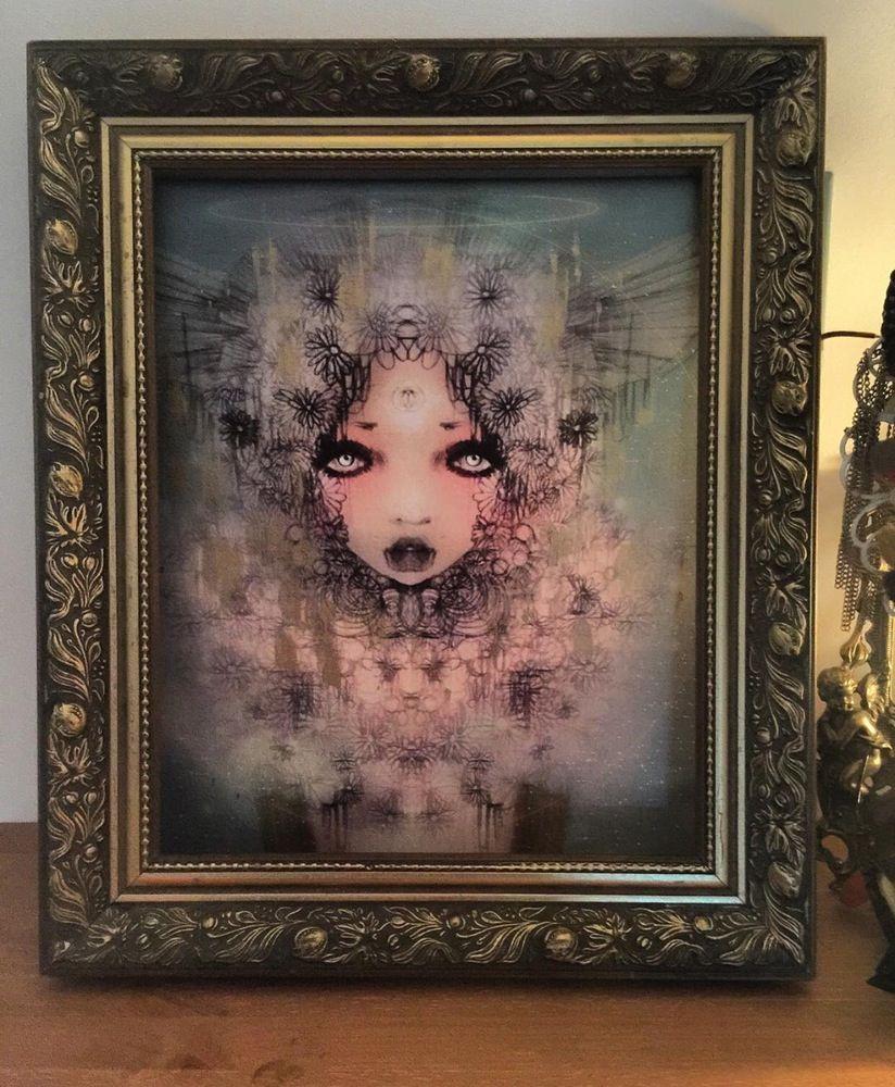 Image of Muyte hand embellished framed canvas A3