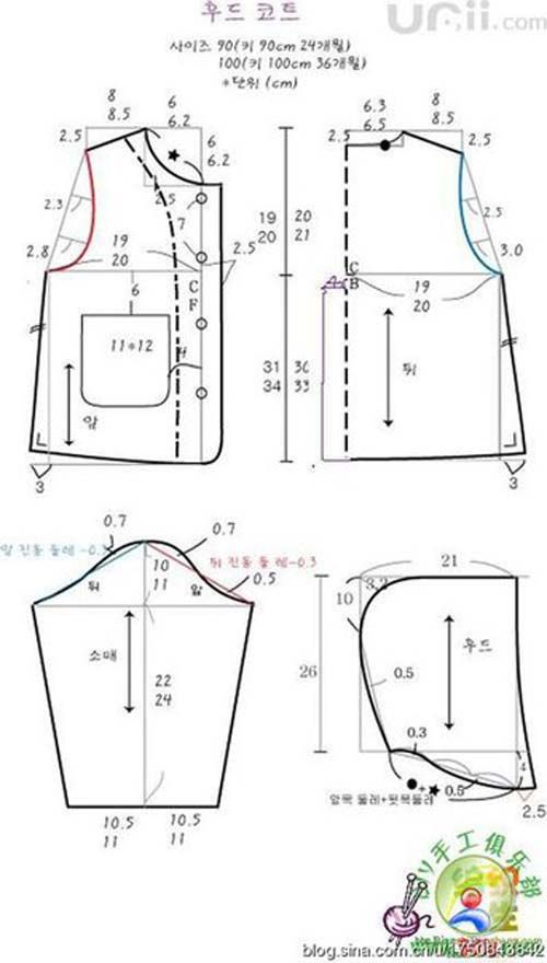 Patrones gratis para hacer abrigos para niños03 … | costuras ...