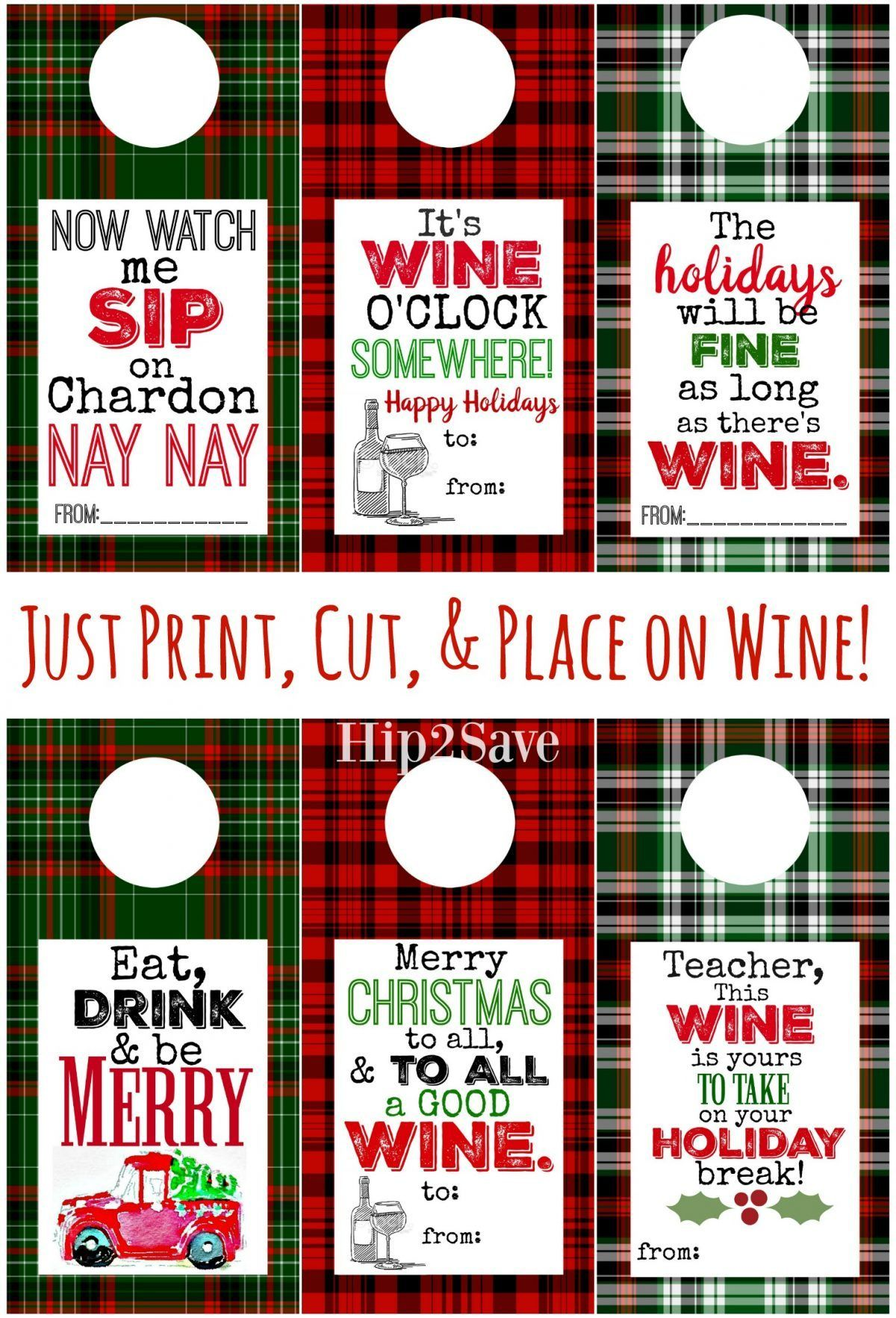 Free Printable Holiday Wine Tags Easy Gift Idea Hip2save Wine Gift Tags Holiday Wine Wine Bottle Gift Tags