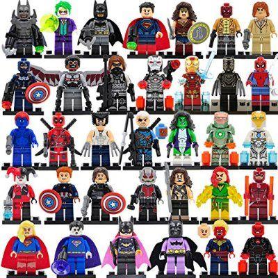 Advengers Building Blocks Ironman Captain Amerca Strange Thor Thanos Deadpool