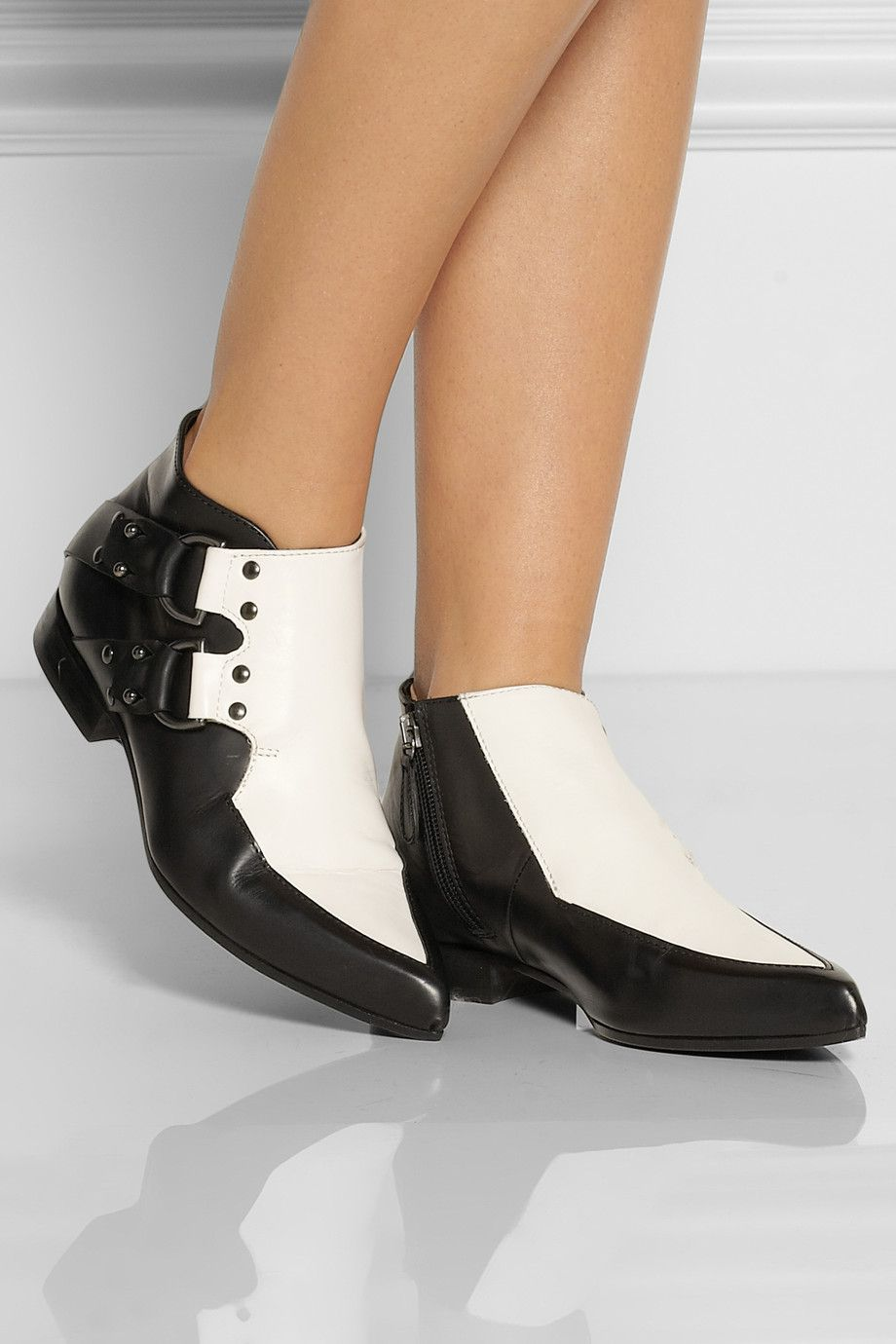 dc487cdcfe96 McQ Alexander McQueen - Two-tone leather ankle boots