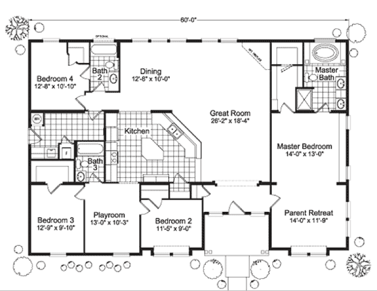 modular home floor plans 4 bedrooms   Fuller Modular Homes   Timber Ridge  Modular Home Floor. modular home floor plans 4 bedrooms   Fuller Modular Homes