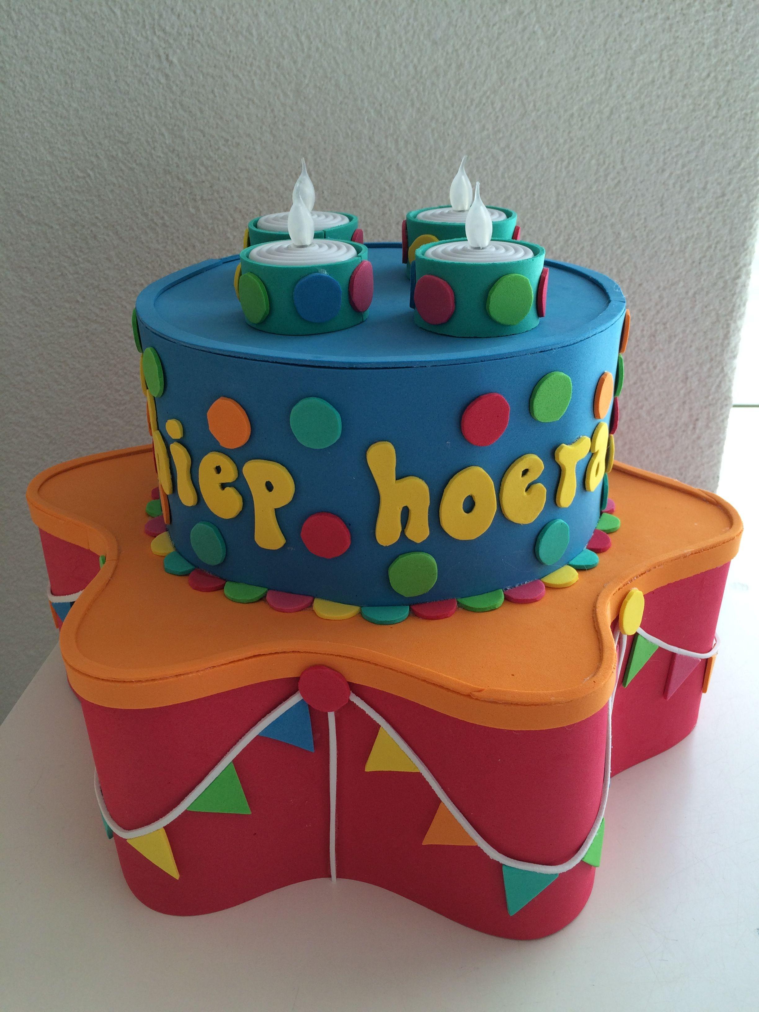 foam taart voor kinderdagverblijf