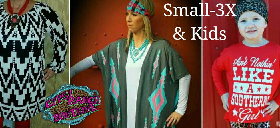 The trendiest apparel, jewelry, caps, in sizes Small-3X we are now offering Plus Size clothing for the fully fabulous ladies!! Time for some Gypsy Style!