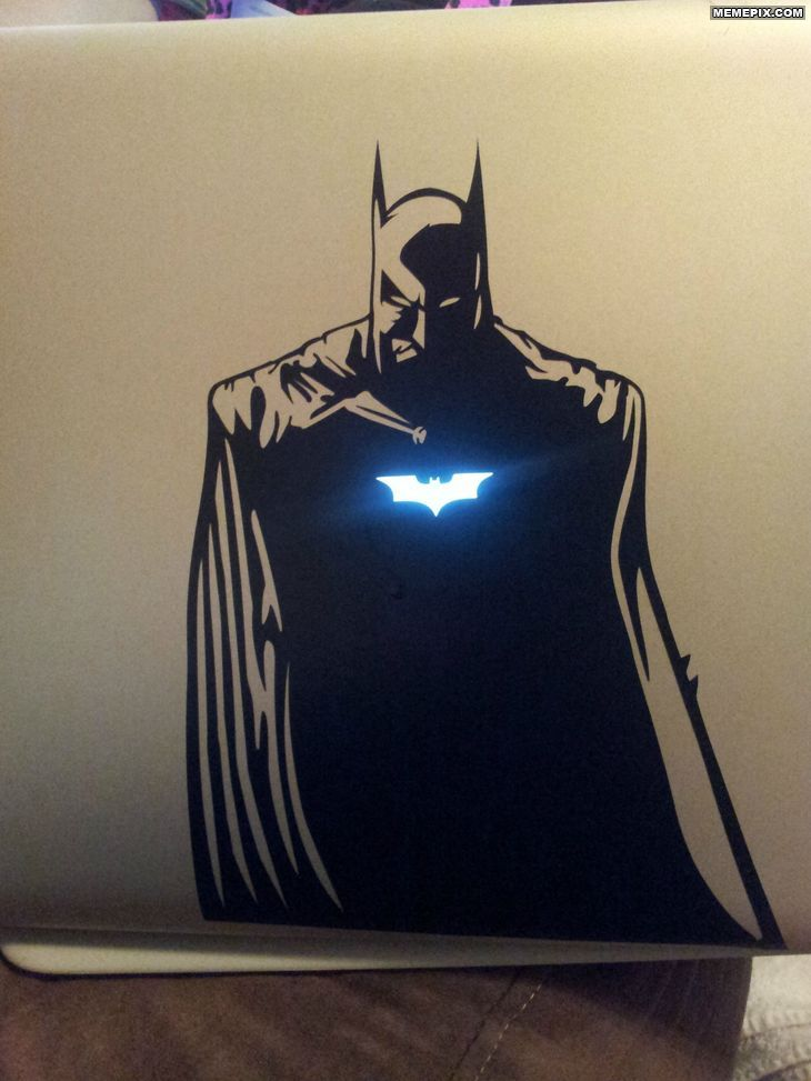 Badass batman macbook decal