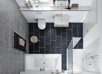 idee für kleine bäder mit badewanne puro duo und dusche xetis, Hause ideen