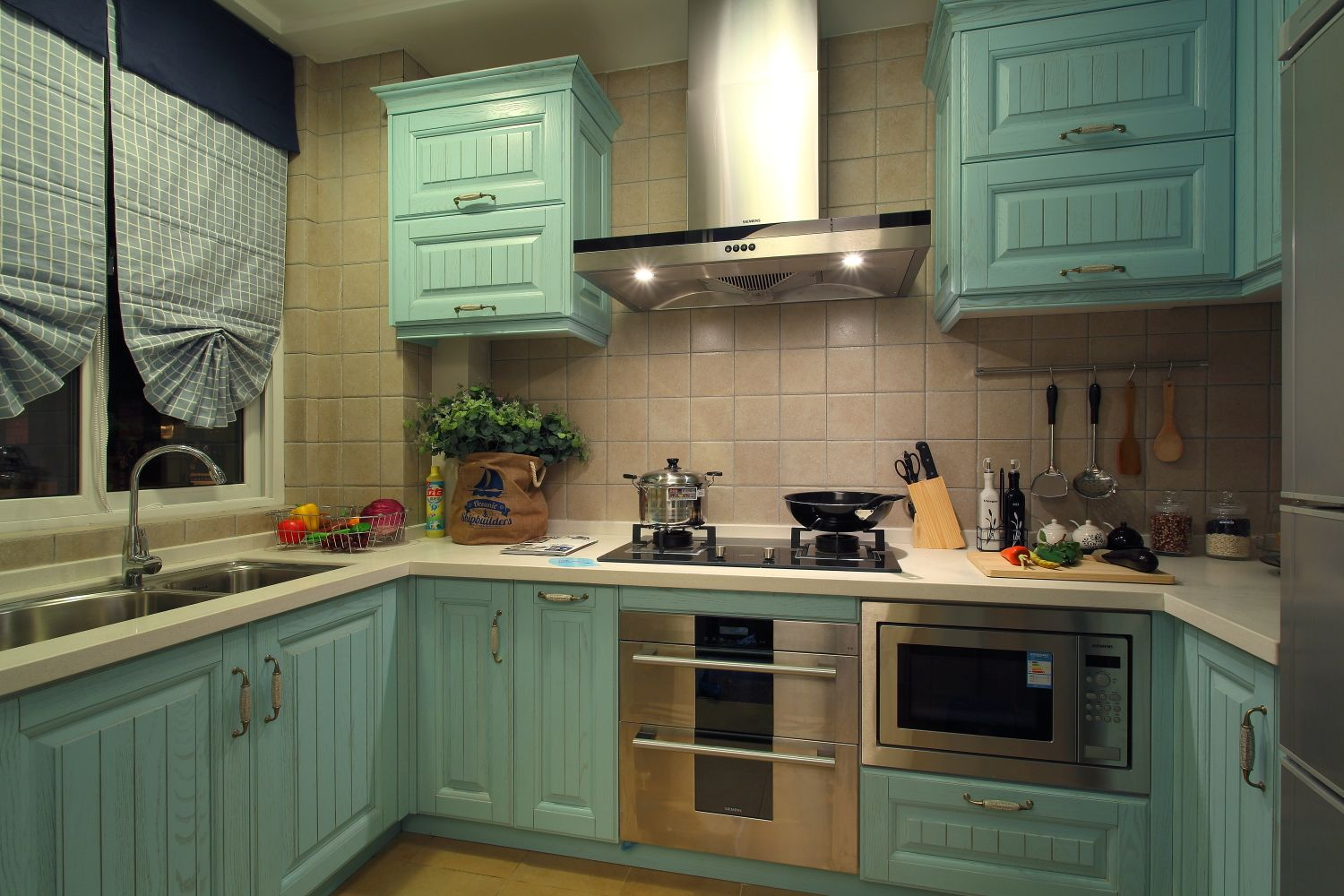 Apartment Kitchen Solid Wood Material