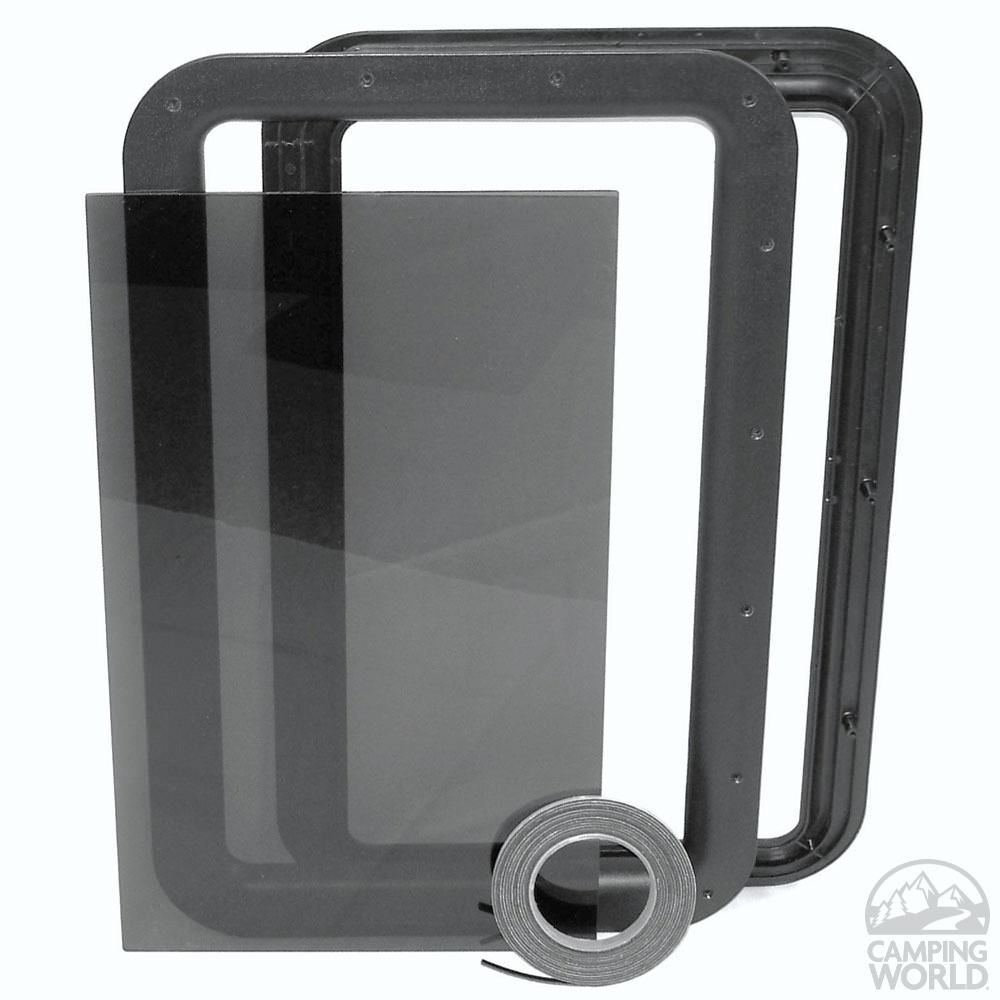 Clear View Entry Door Window Kit | RV Camping | Entry door