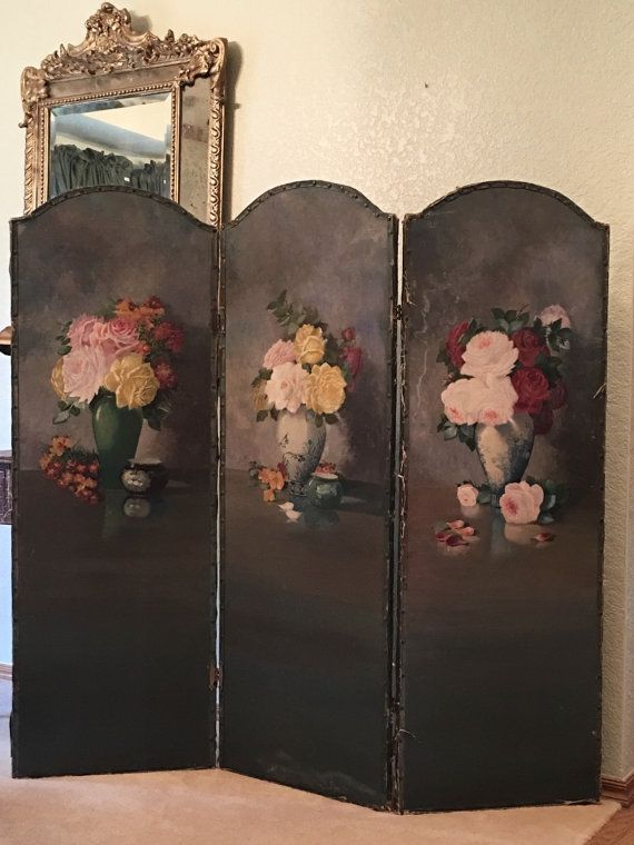 Sale Half Off Antique Dressing Screen By Redbarnestates On
