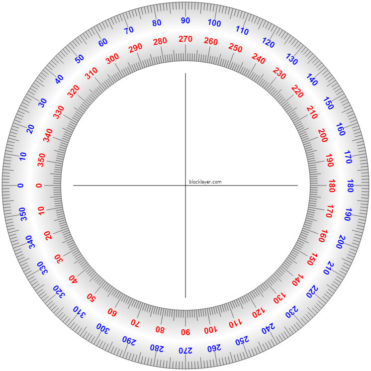 Print And Fold Or Cut Protractor Template In Half Or Cut