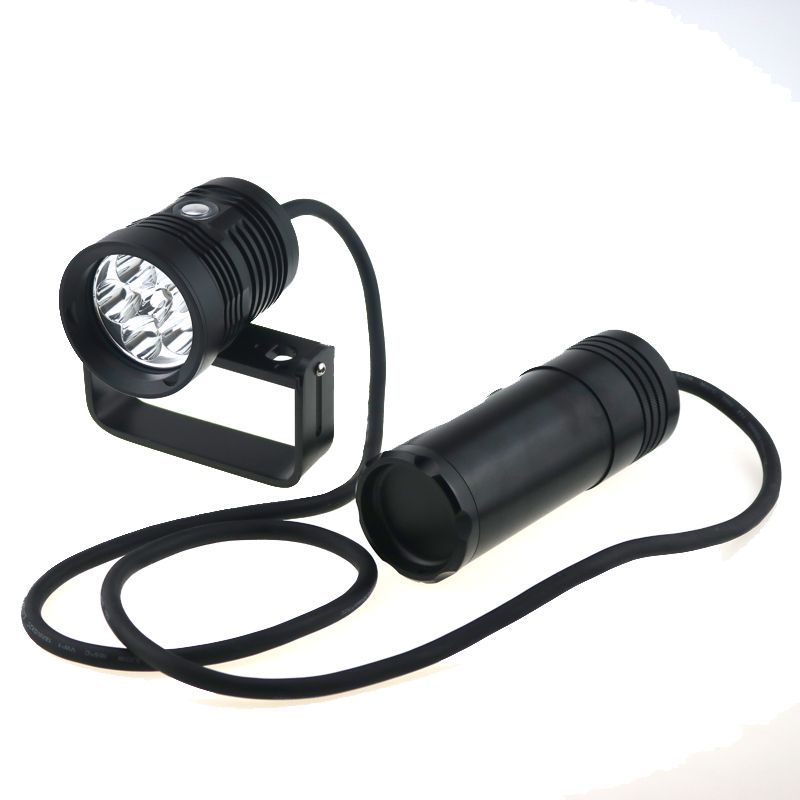 Waterproof Tactical Rechargeable 10000 Lumens 6x Cree Xm L2 Led Diving Photography Flashlight Torch 150m Underwa Video Lighting Portable Light Underwater Video