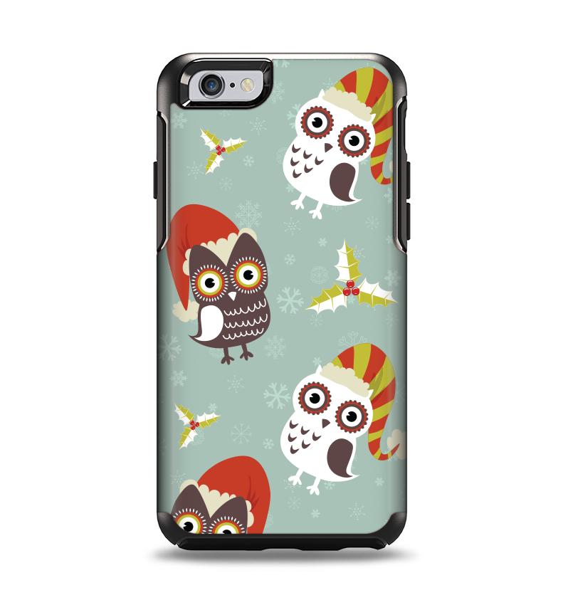 The Abstract Vintage Christmas Owls Apple iPhone 6 Otterbox Symmetry Case Skin Set
