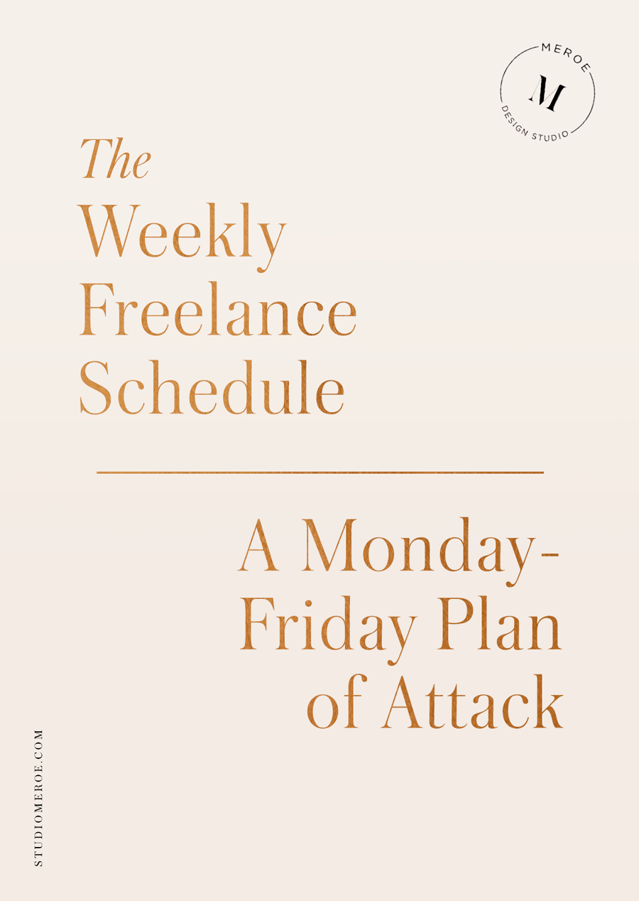How To Invoice For Freelance Work Freelance Tip How I Created A Highly Productive Weekly Schedule .