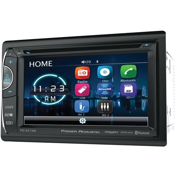 Power Acoustik 6 2 Double Din In Dash Dvd And Siriusxm Radio