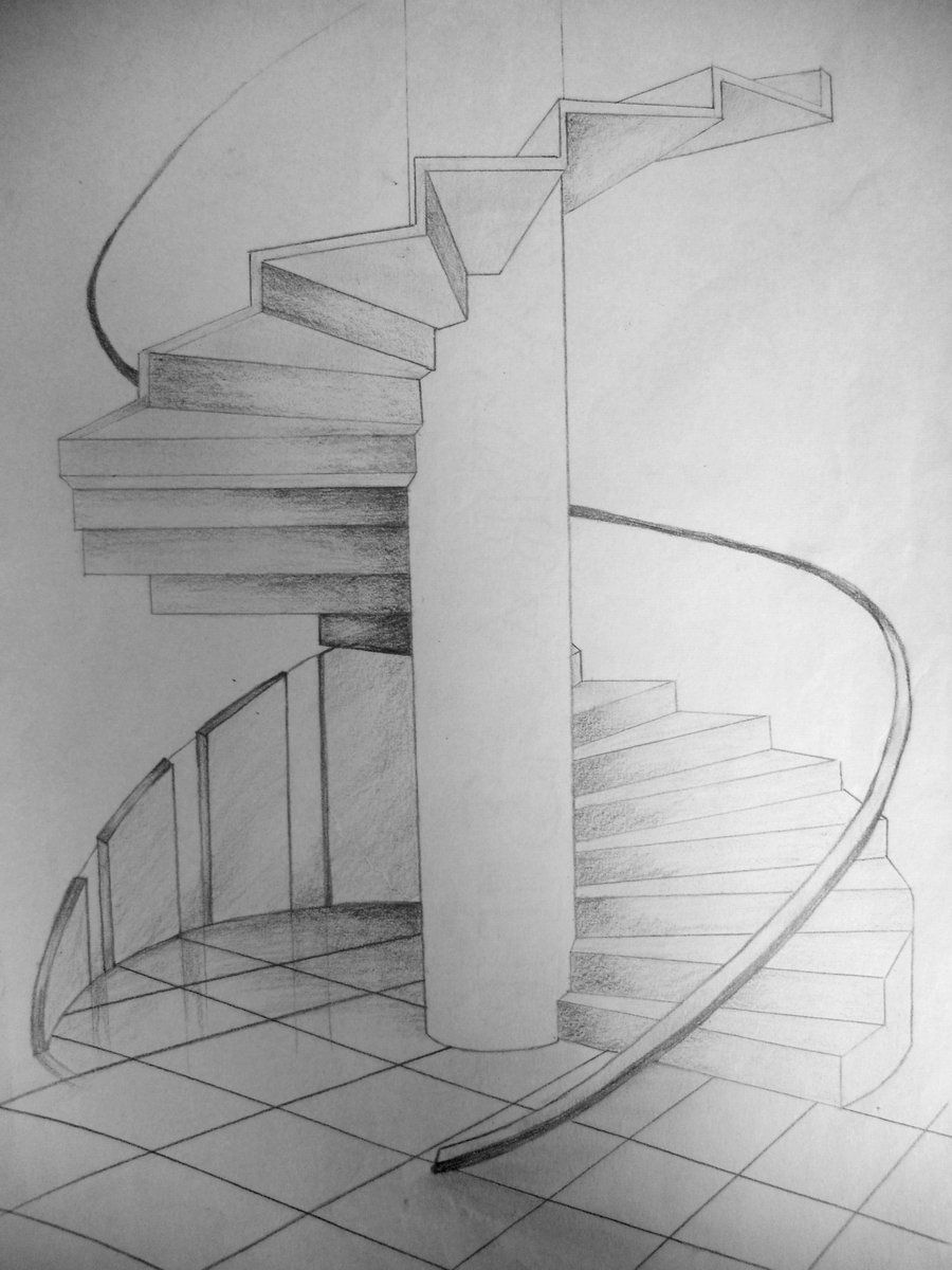 spiral staircase by on deviantart architectural drawing pinterest. Black Bedroom Furniture Sets. Home Design Ideas