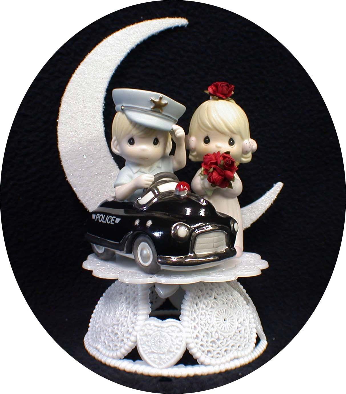 Police Car Wedding Cake Topper Policeman W Precious