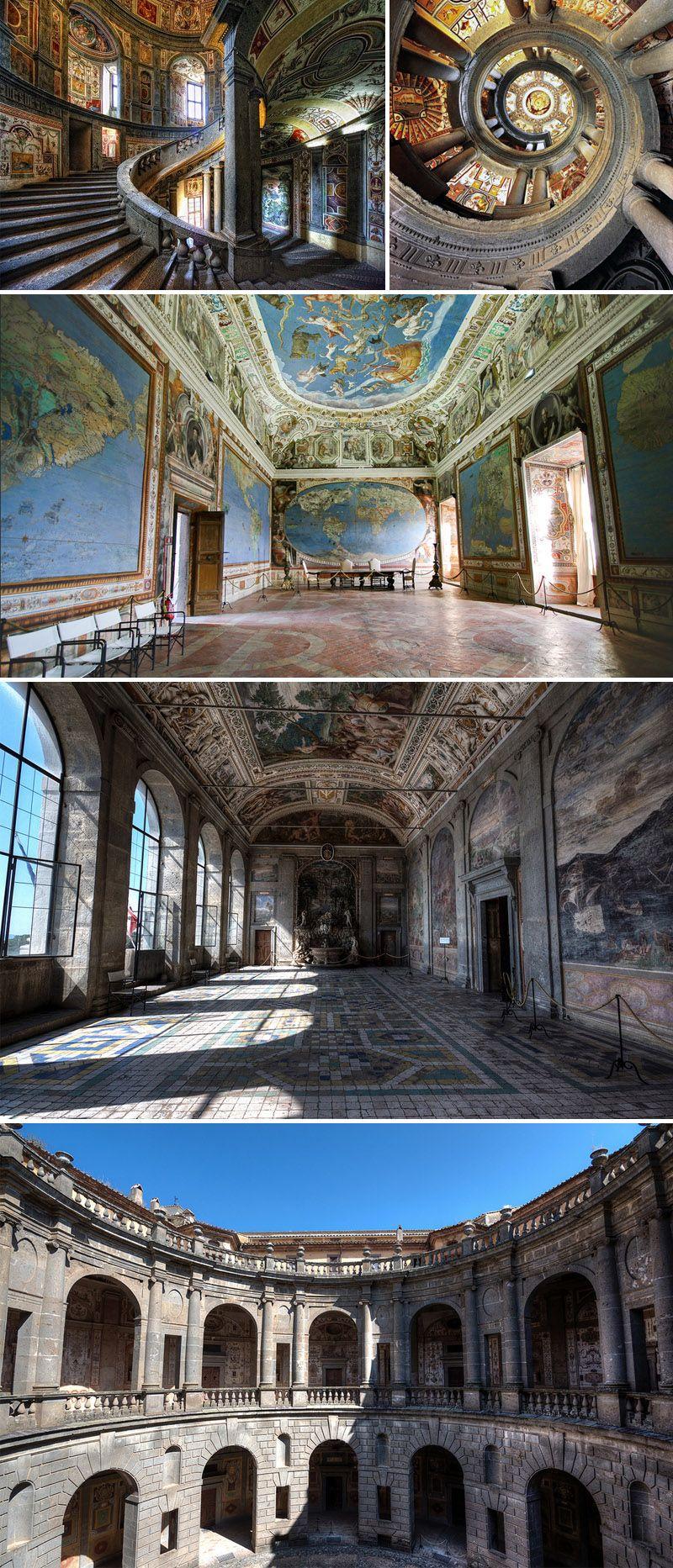 Palazzo farnese a caprarola nel lazio gli interni for Gli interni delle case piu belle d italia