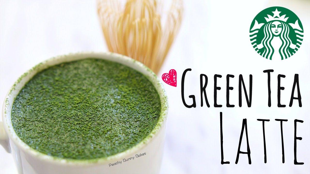 Starbucks' Green Tea Latte Recipe⎜抹茶拿鐵 [中文字幕] - Peachy Bunny Bakes