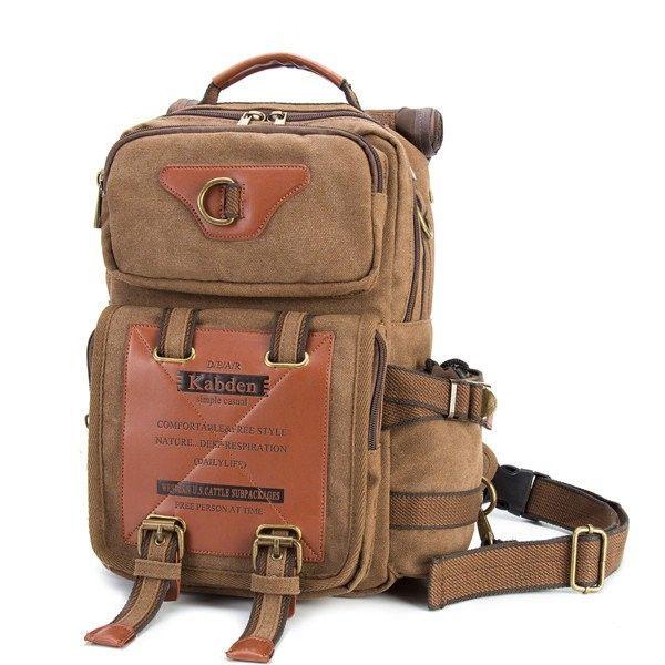 49b56d47c986 Bagail Ekphero 13L Outdoor Large Capacity Canvas Multi-use Crossbody Bag  Chest Bag For Men