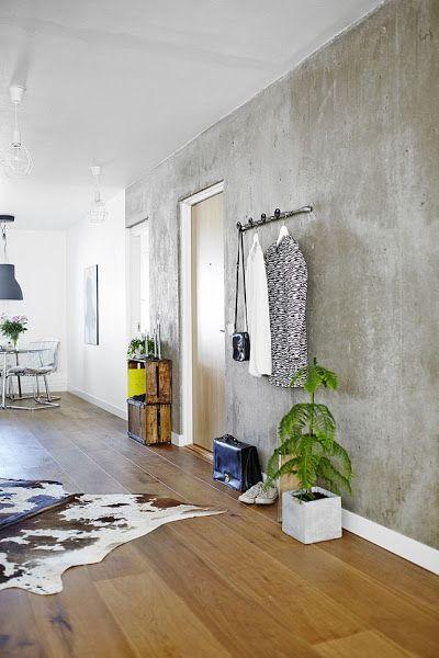 Cemento A La Vista En Las Paredes Paredes De Cemento Interiores De Hormigon Diseno De Interiores Industrial