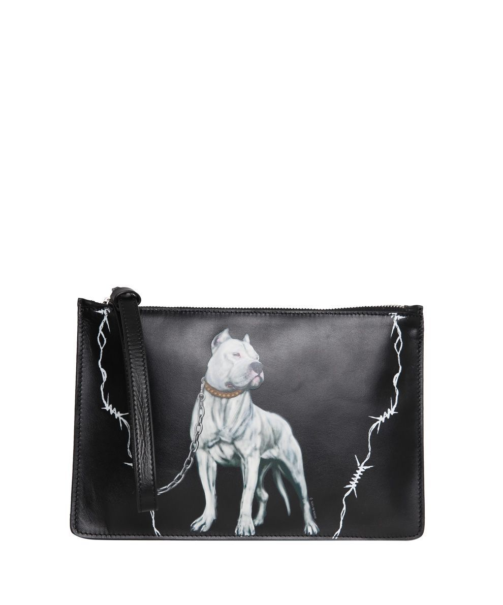 Low Price Sale Online MARCELO BURLON COUNTY OF MILAN Dogo Leather Pouch Free Shipping Best Seller Clearance Pay With Paypal Discount Really EIfztO