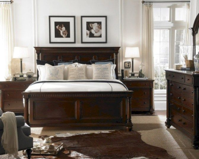 64 Stunning Dark Wood Bedroom Furniture Ideas decorating