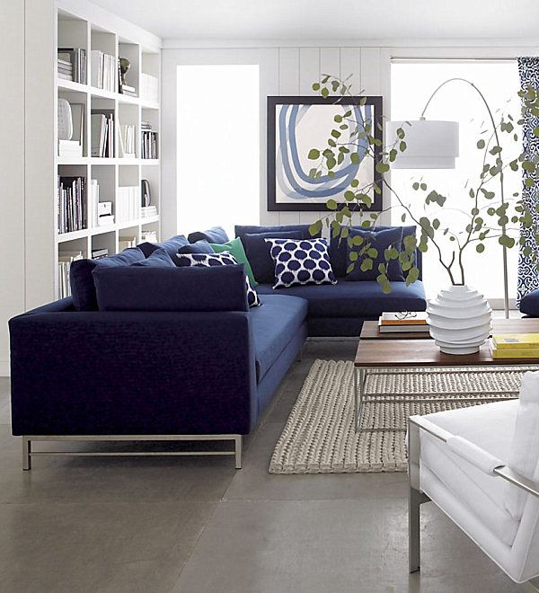 Modern Sectional Sofas For A Stylish Interior Uptown Left Arm Sofa Crate And Barrel