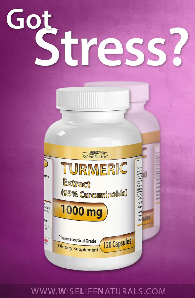 Got Stress? WiseLife Premium Turmeric Curcumin Longa Root