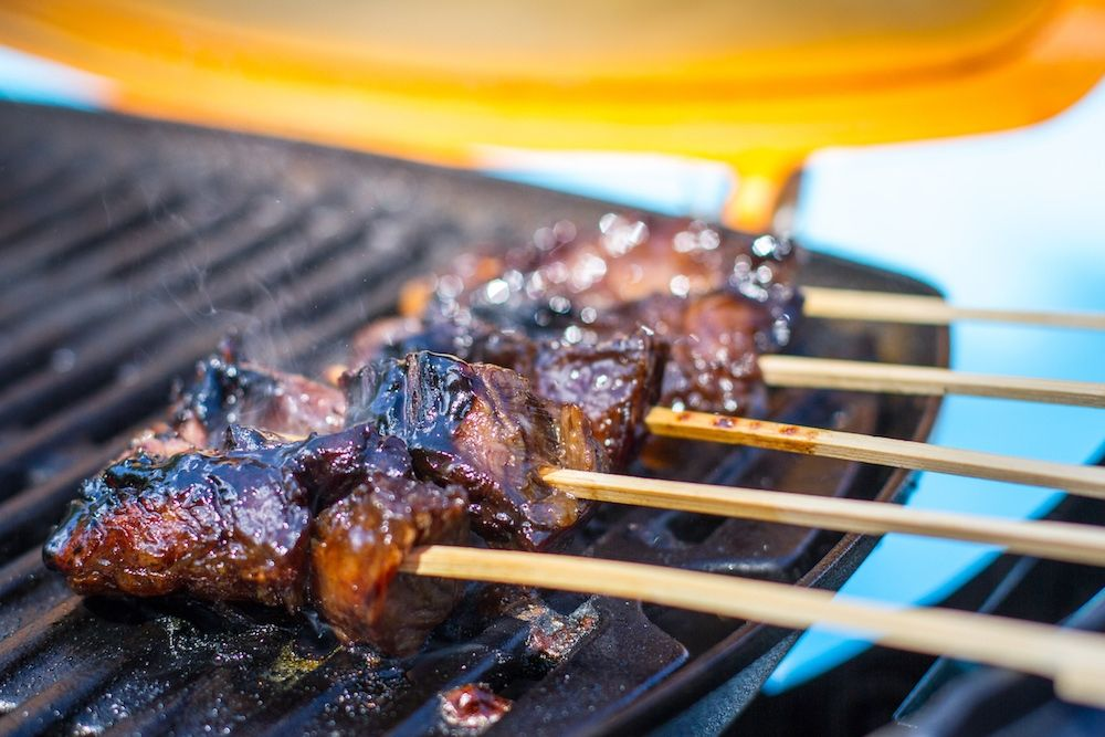 Grilled Marinated Steak And Potato Kabobs Recipe Potato Kabobs Kabob Recipes Grilled Steak Recipes