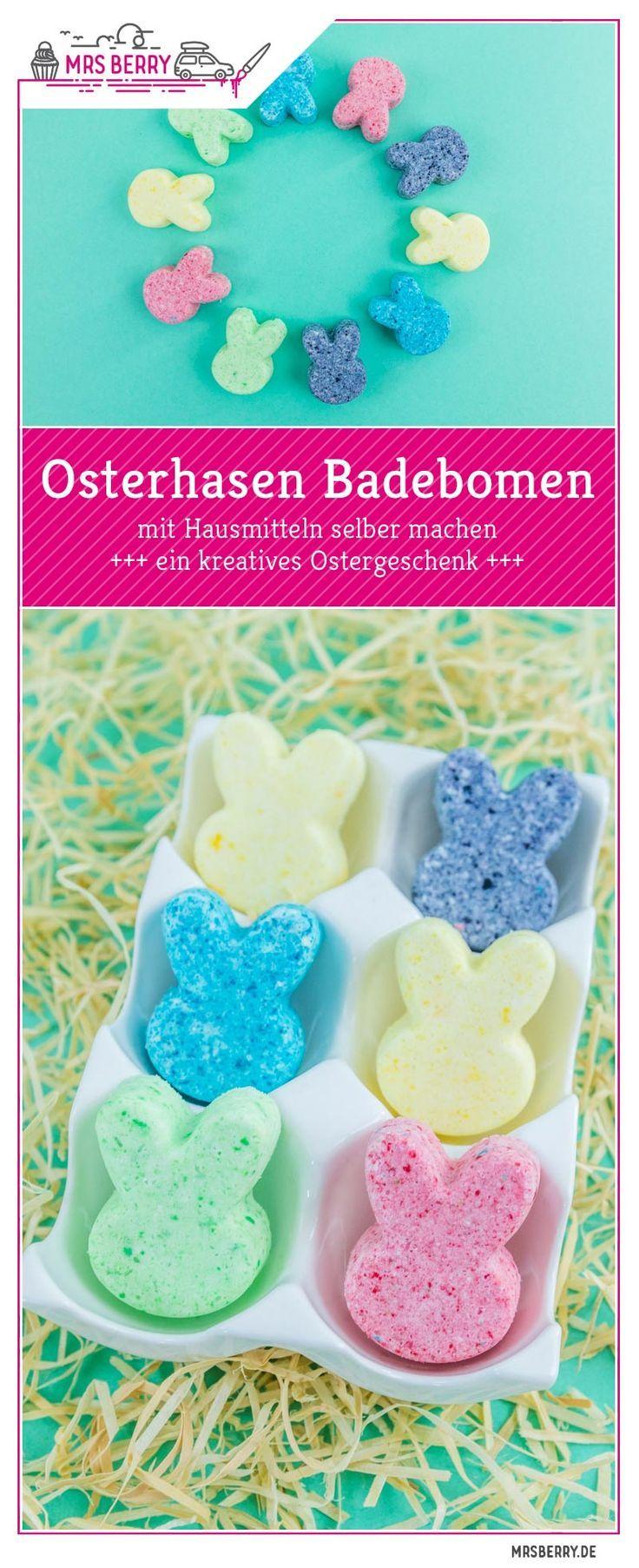 Osterhasen Badebomben DIY | MrsBerry Familien-Reiseblog #badekugelnselbermachen