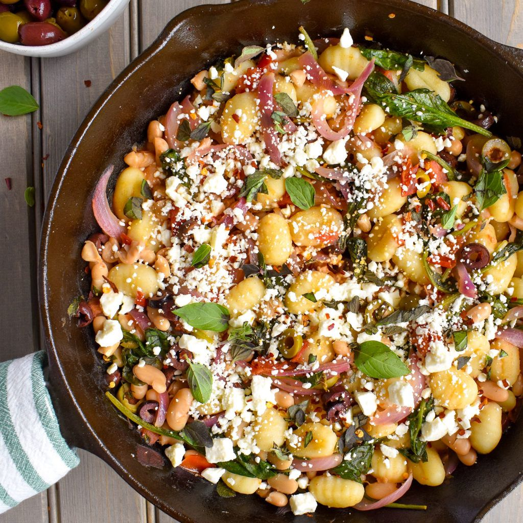 Gnocchi With White Beans Recipe: Mediterranean Gnocchi Skillet With White Beans And Spinach