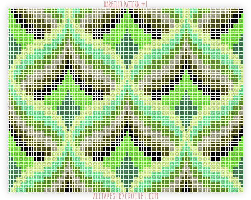 Bargello Pattern 1 Free Tapestry Crochet Pattern From