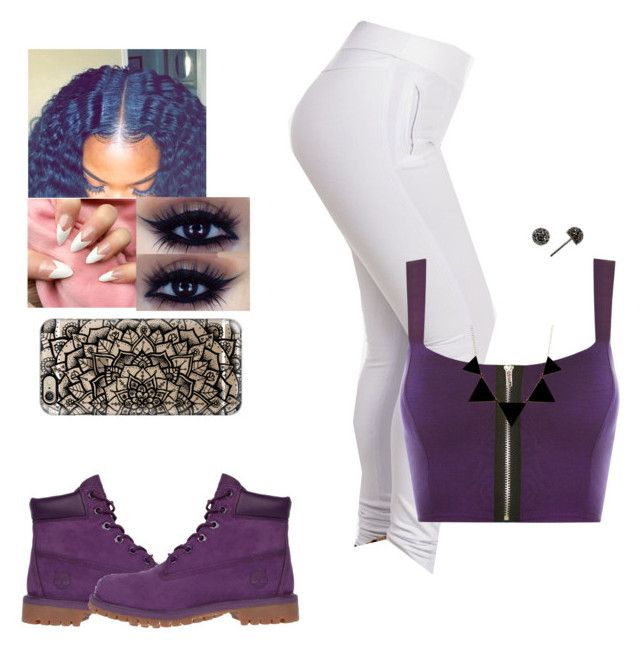 """""""Purple reign 🔮💜💸😈"""" by kira101-101 ❤ liked on Polyvore featuring WearAll, Timberland, Judith Jack and Casetify"""