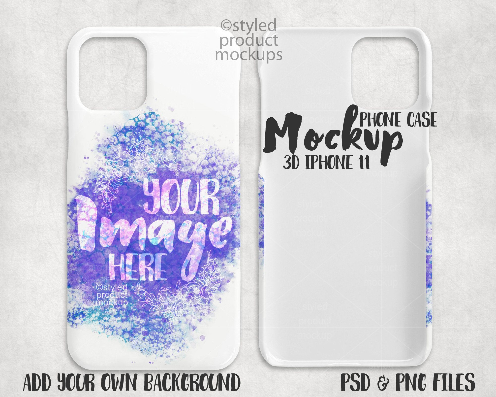 Download Dye Sublimation 3d Iphone 11 Phone Case Mockup Add Your Own Etsy Phone Cases Phone Cover Design Phone