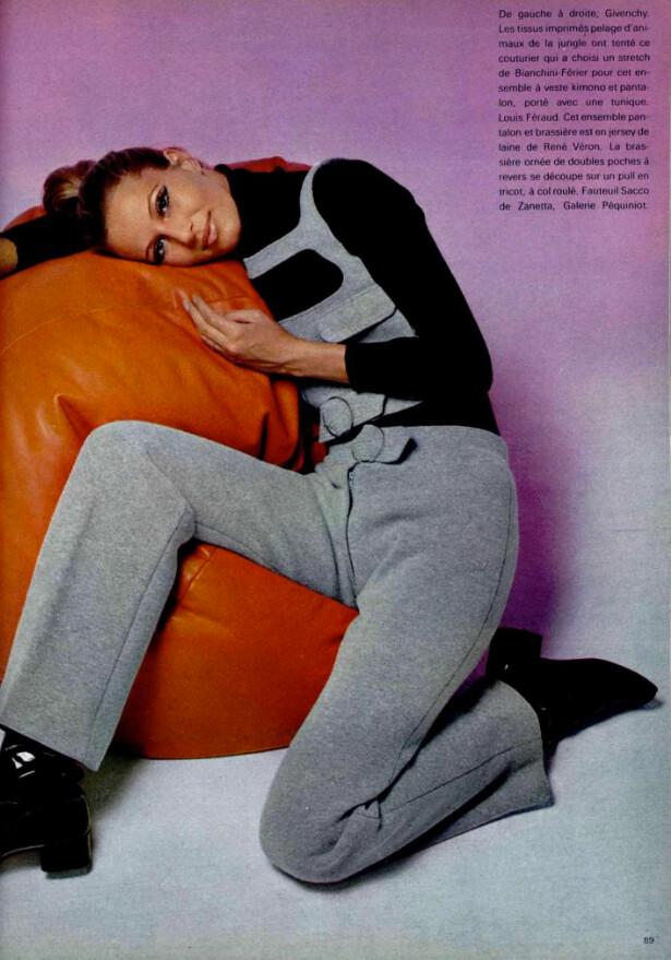 LOUIS FÉRAUD 1969 1960s mod fashion, 70s women fashion