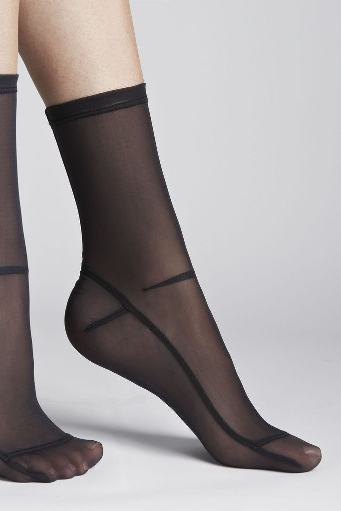 Nylon Sheer Socks - Black
