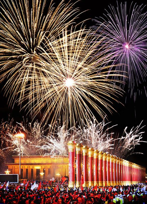 Fireworks in Chinese New Year New Year\u0027s Eve Around The World