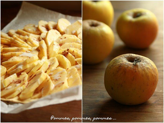 La Cuisine du Corti: Tarte fine aux pommes, miel et cannelle (use google translator... this recipe is worth it) @Kathi McKenzie