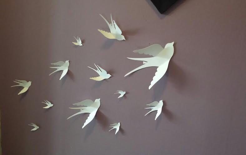 Paper Wall 3D Bird - 3D Wall Art - Paper Bird - wall paper birds by LeCoquetterieShop on Etsy ... & Paper Wall 3D Bird - 3D Wall Art - Paper Bird - wall paper birds by ...