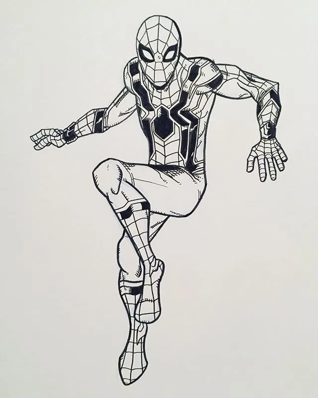 I Can T Wait To See Tomholland2013 As Spider Man In Avengers Infinity War I Drew The New Iron Spider Suit Spiderman Avengers Avengersinfinitywar Ironspi Spiderman Spiderman Comic Iron Spider
