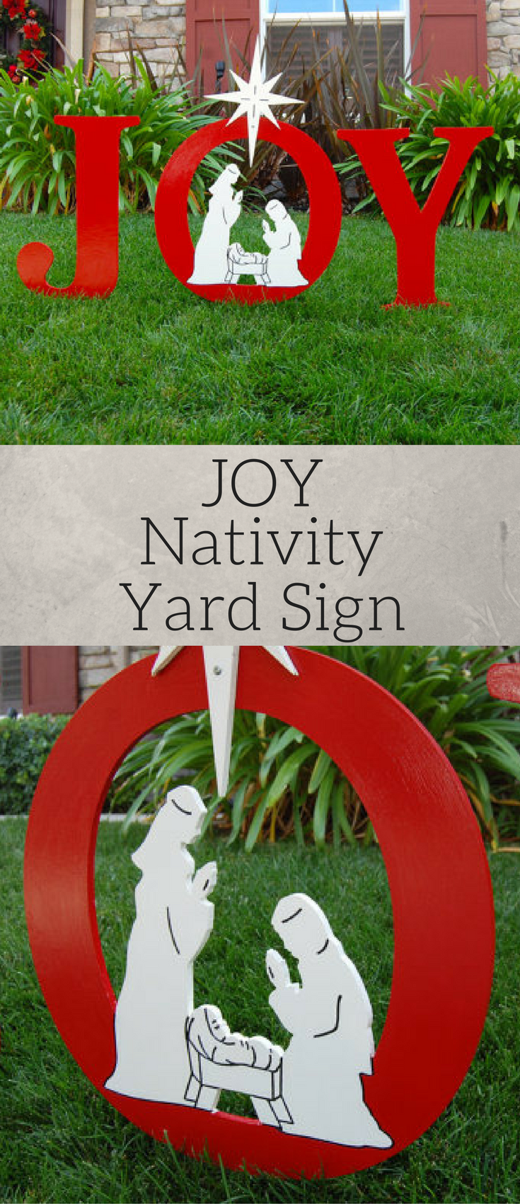 Joy nativity outdoor christmas sign holiday yard art sign outside