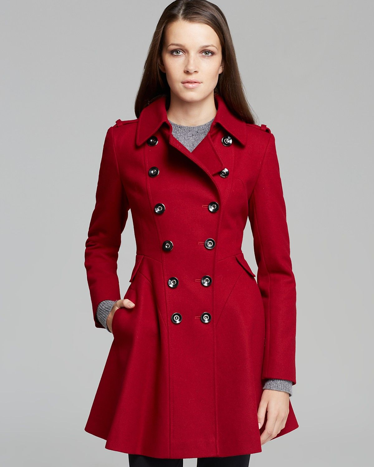f7f0b0c9701 Via Spiga Coat - Double Breasted Military | Bloomingdale's | Clothes ...