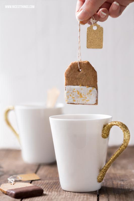 ♡ DIY glitter-mugs & tea biscuits