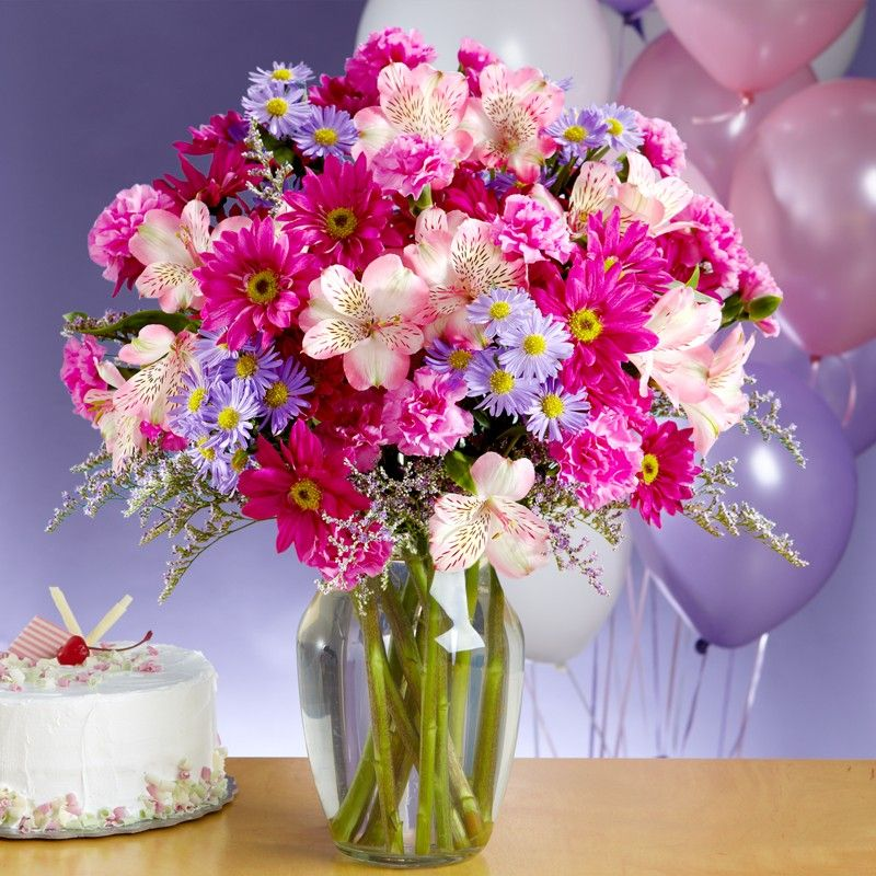 Happy birthday flowers images pictures and wallpapers