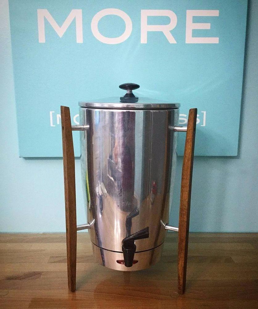 Vintage Regal Mid Century Coffee Maker 7016 Atomic Age 40 Cup Danish Modern Coffee Urn Coffee Maker Mid Century