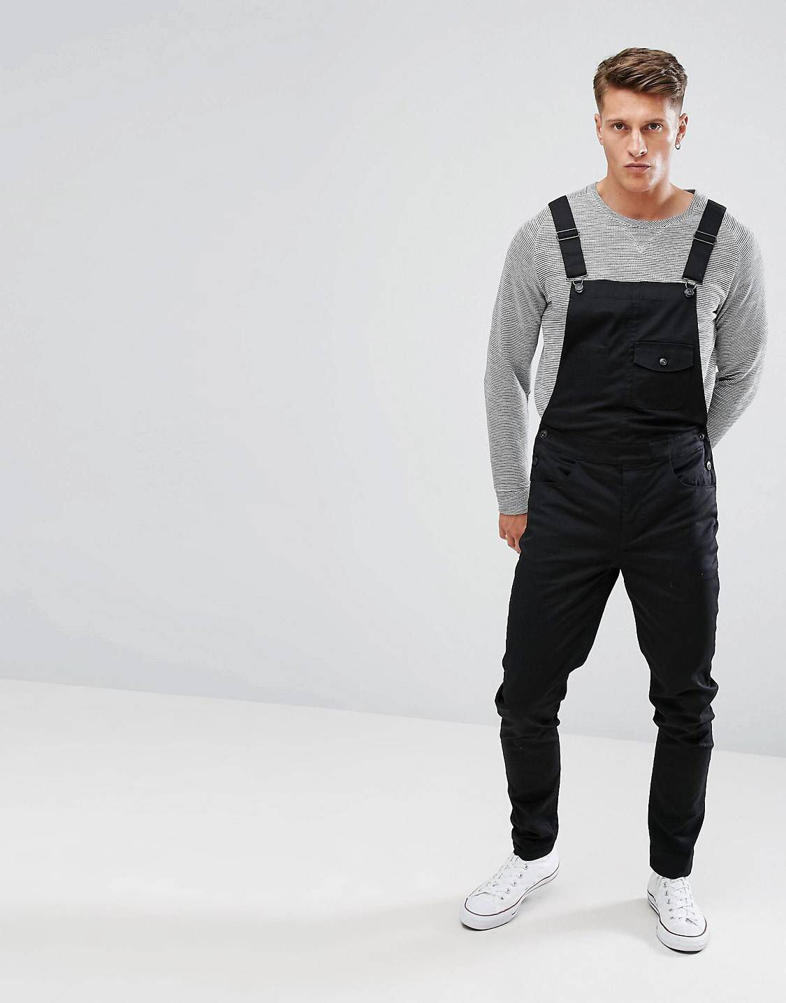 DESIGN skinny overalls in black   Men s style   Overalls, Skinny ... 738b6a65c193