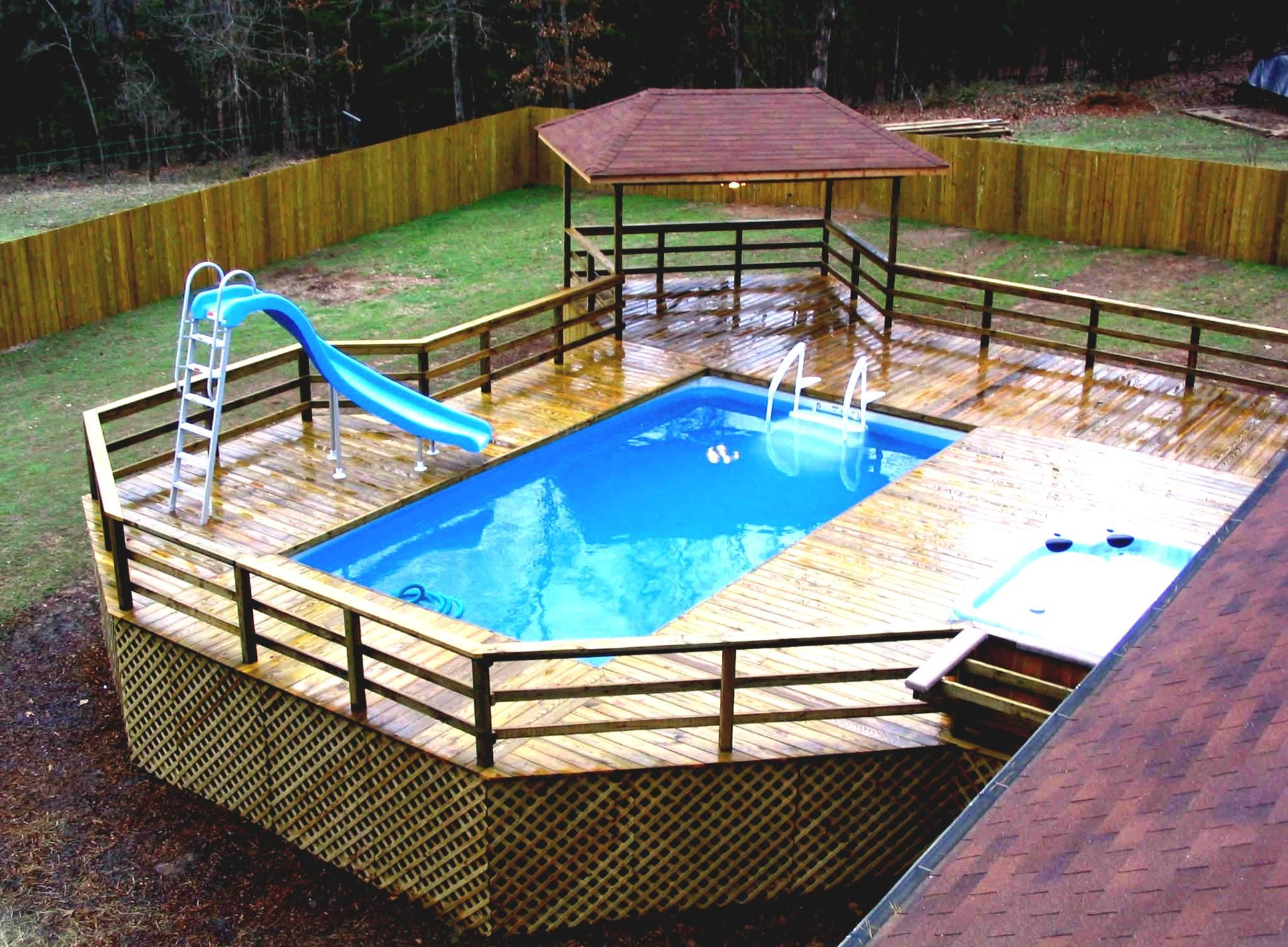 Intex above ground pool landscaping ideas pdf backyard for Pool exterior design