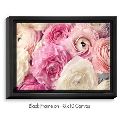 """DiaNocheDesigns 'Shades of Pink' by Sylvia Cook Graphic Art on Wrapped Framed Canvas Size: 31.75"""" H x 41.75"""" W x 1.75"""" D, Frame Color:"""