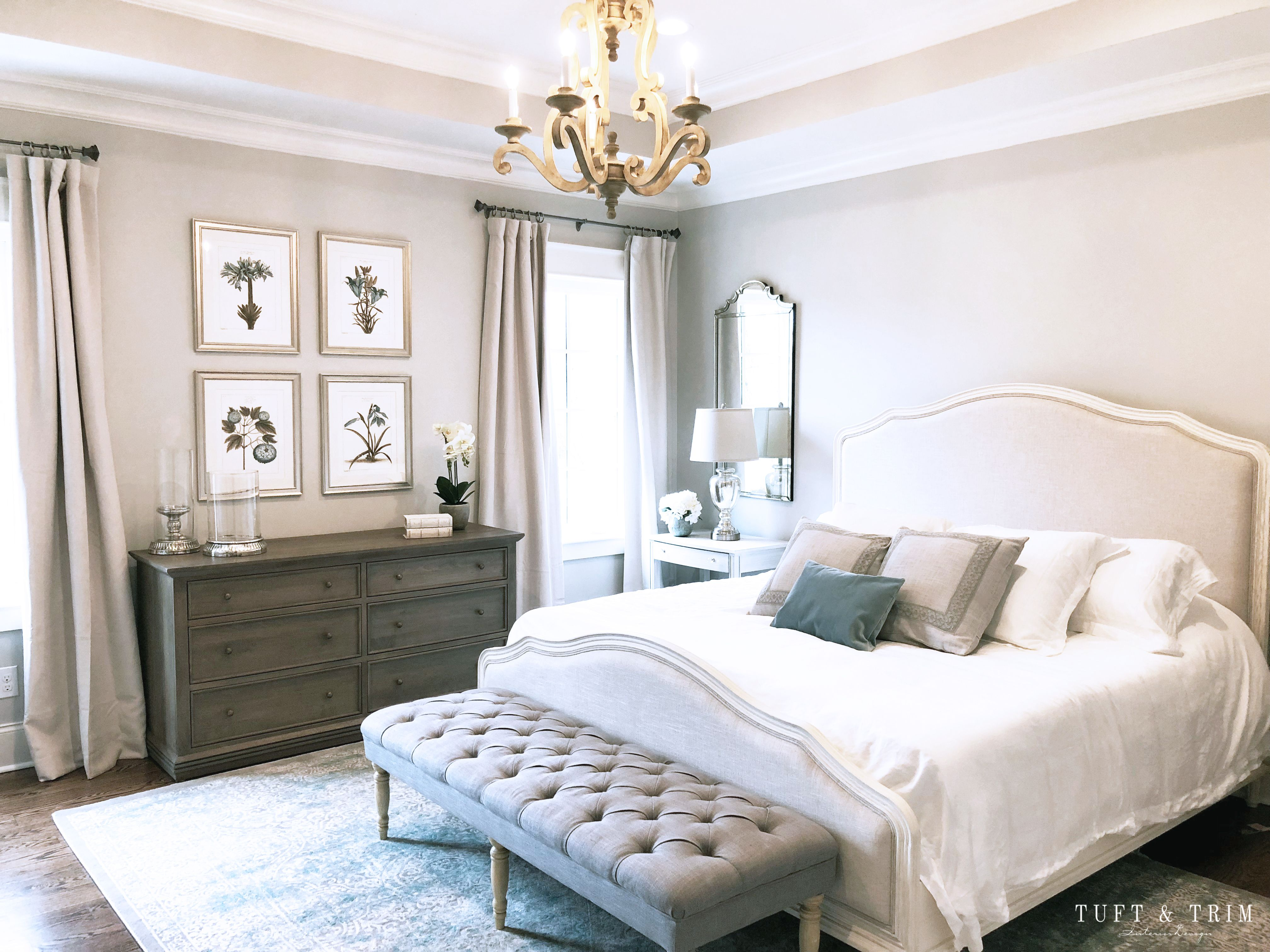 French Chic Bedroom E Design Tuft Trim French Country Master Bedroom Country Master Bedroom Elegant Bedroom