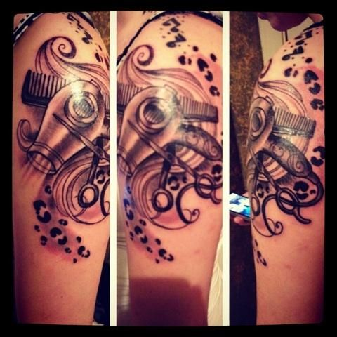 i love my cosmetology tattoo short did an awesome job tattoos pinterest cosmetology. Black Bedroom Furniture Sets. Home Design Ideas